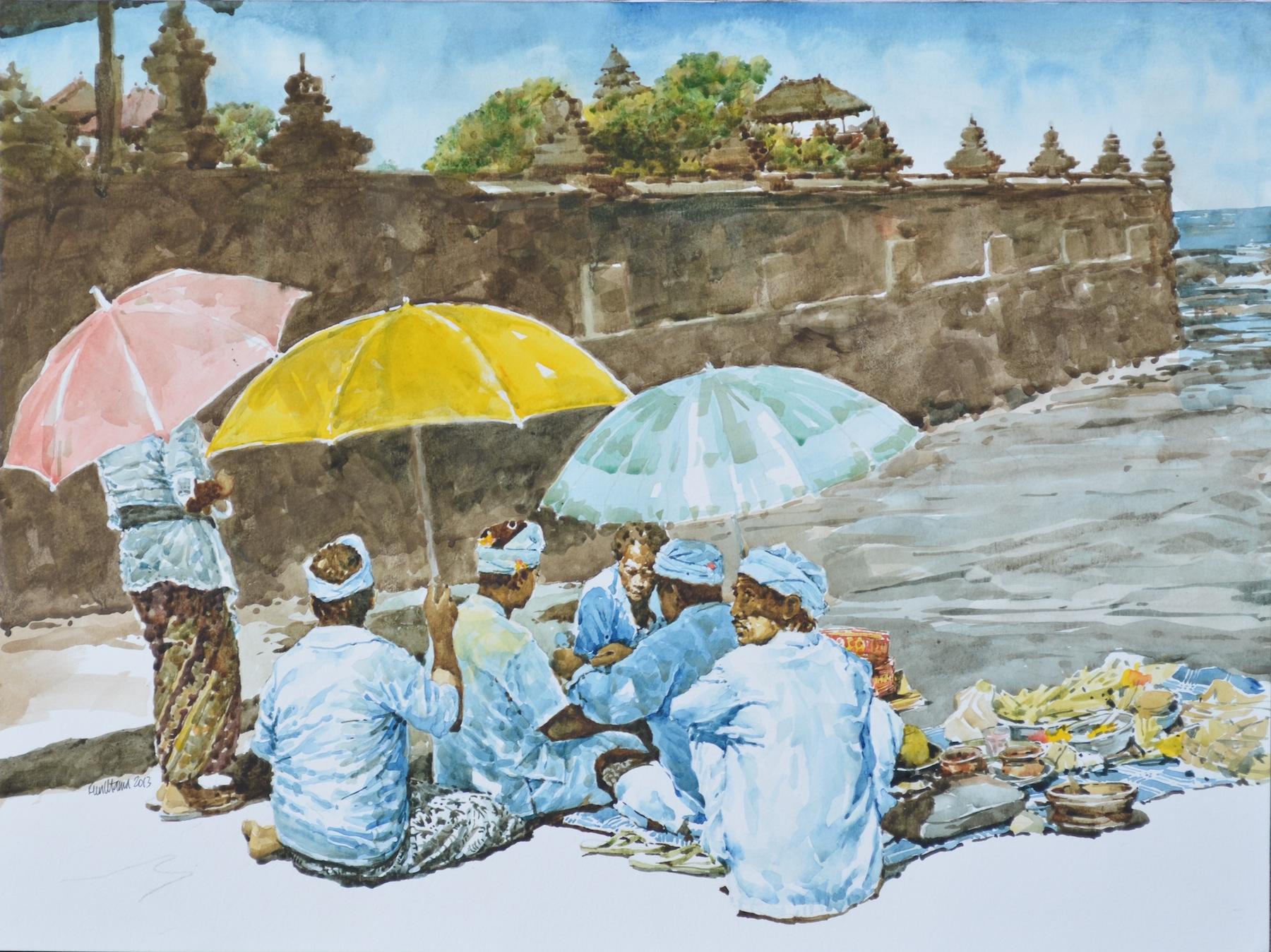 """""""Puja at Tanah Lot, Bali"""""""