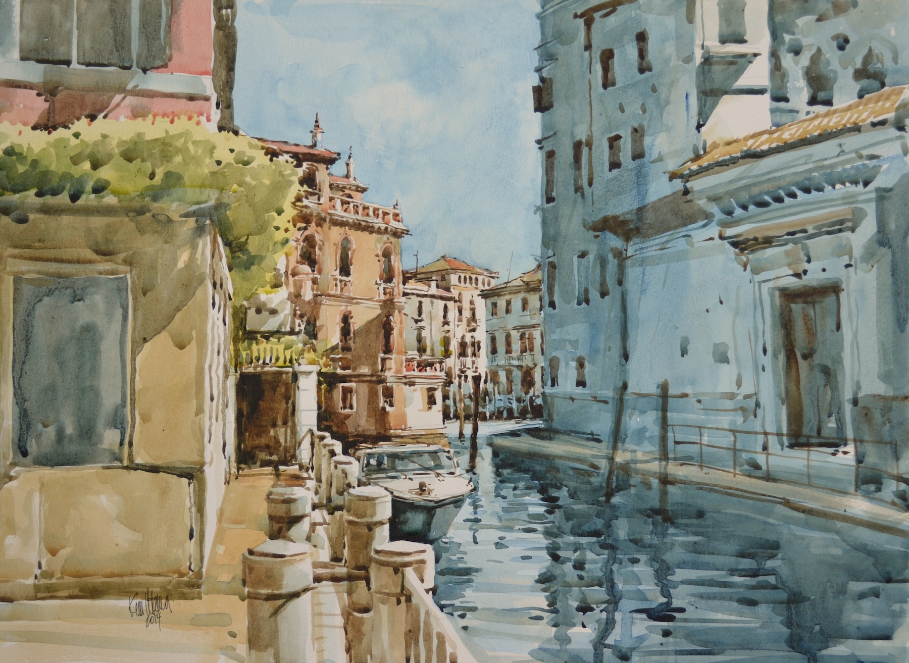 """Off the Grand Canal, Venice"""